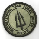 "Ecusson velcro ""Multinational Task Force North KFOR"" - Opération Trident"